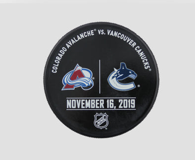 Vancouver Canucks VS. Colorado Avalanche Warm Up Puck- November 16th, 2019