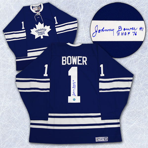 quality design 675bc eb918 Johnny Bower Toronto Maple Leafs Signed 1967 Stanley Cup Retro CCM Jersey