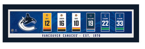 Vancouver Canucks Legends Framed Retirement Banner Print