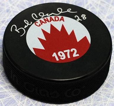 Bobby Clarke Team Canada Autographed 1972 Summit Series Hockey Puck