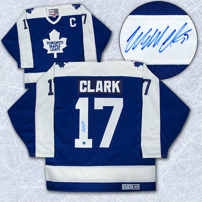 Wendel Clark Toronto Maple Leafs Autographed Retro CCM Hockey Jersey - Vanbase