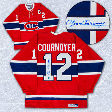 Yvan Cournoyer Montreal Canadiens Autographed Retro CCM Hockey Jersey