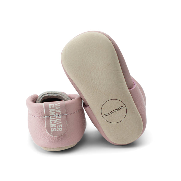 Vancouver Canucks Infant Minimoc Orca Pink Moccasins - Vanbase