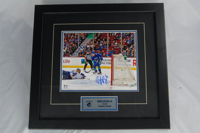 Brock Boeser Signed Goal