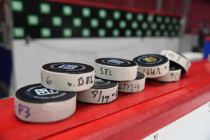 R2G2 - PLAYOFF GAME USED PUCK