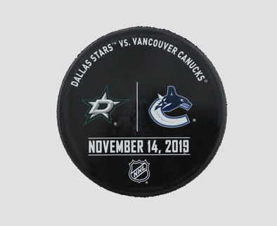 Vancouver Canucks VS. Dallas Stars Warm Up Puck- November 14th, 2019