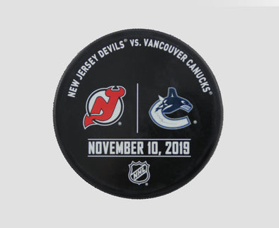 Vancouver Canucks VS. New Jersey Devils Warm Up Puck- November 10th, 2019