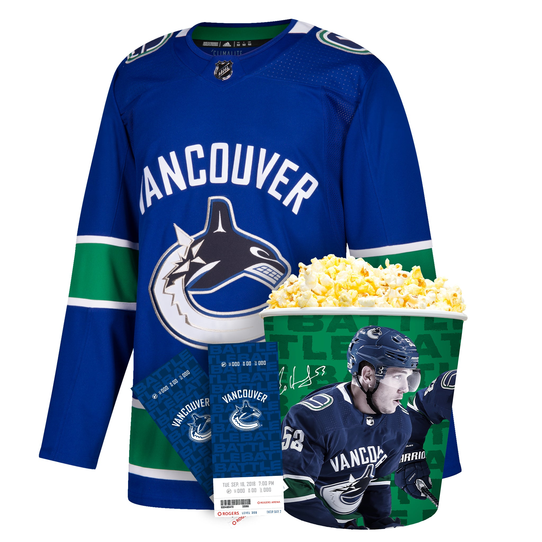 Vancouver Canucks Blank Jersey Ultimate Fan Pack  621a05466