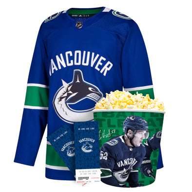 Vancouver Canucks Youth Blank Jersey Ultimate Fan Pack - Vanbase