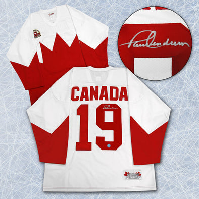 Paul Henderson Team Canada Autographed 1972 Summit Series Hockey Jersey -  Vanbase aad6ab530