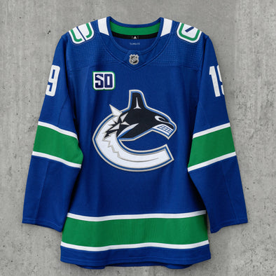 Vancouver Canucks Adidas Pro Crested Jersey ( Past Players )
