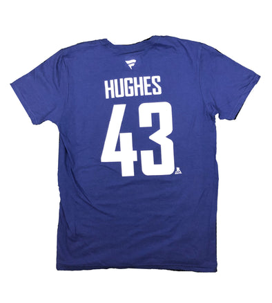Vancouver Canucks Q. Hughes Name & Number T-Shirt