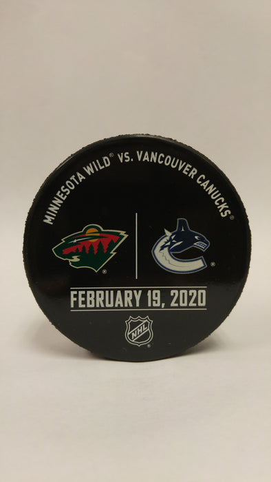 Vancouver Canucks VS. Minnesota Wild Warm Up Puck- February 19th, 2020