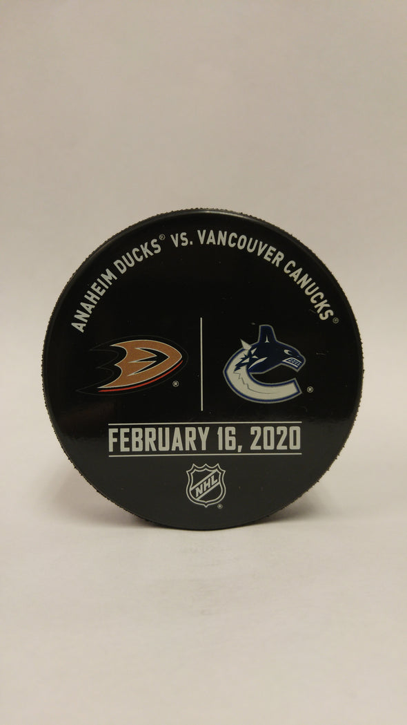 Vancouver Canucks VS. Anaheim Ducks Warm Up Puck- February 16th, 2020