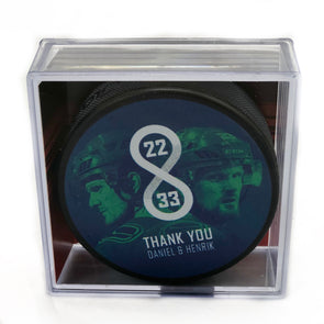 Thank You Sedins Cubed Puck - Vanbase