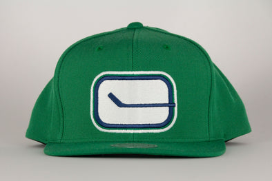 Vancouver Canucks Mitchell & Ness Stick Wool Solid Snapback