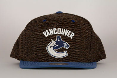 Vancouver Canucks Mitchell & Ness Orca Donegal Tweed 2 Tone Snapback
