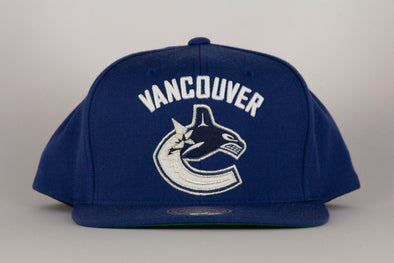 Vancouver Canucks Mitchell   Ness Orca Wool Solid Snapback a2d40a3c5