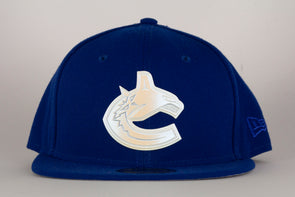 Vancouver Canucks New Era Polished Piece Orca Flat Brim