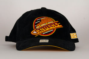 Vancouver Canucks CCM Cordurouy Adjustable Skate Hat