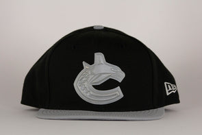 Vancouver Canucks New Era 9Fifty Black Silver Snapback