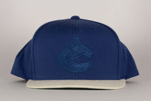 Vancouver Canucks Mitchell & Ness Orca Replay Tonal Curduroy Snapback