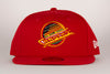 Vancouver Canucks New Era Skate 5950 Red Flat Brim