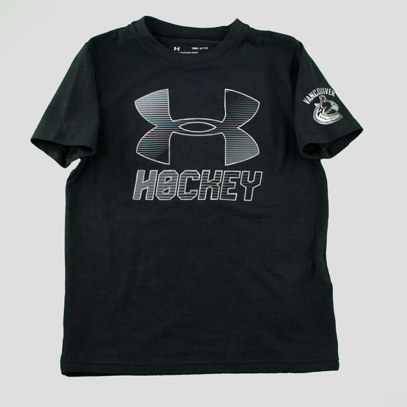 Canucks Youth Under Armour Wordmark T-Shirt