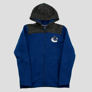 Canucks Youth Full Zip Cenpedal Orca Hoodie