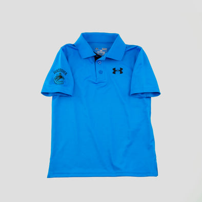 Canucks Youth Under Armour Matchplay Polo (Blue)