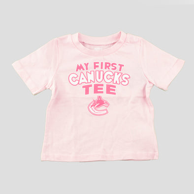 "Canucks Infant ""My First Canucks T-Shirt"" (Pink)"