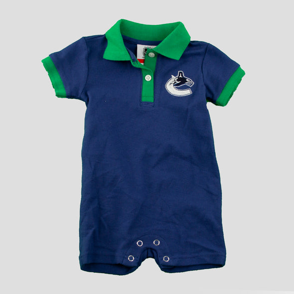 Canucks Infant Prepster Polo Onesie