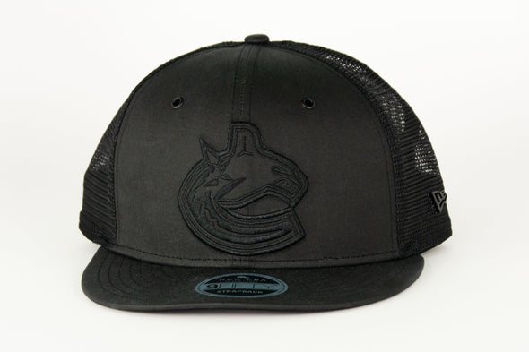Canucks New Era Black Label Mole Skin 950 Orca Snapback