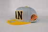 Canucks Mitchell & Ness Retro 110 Skate Snapback (Grey)