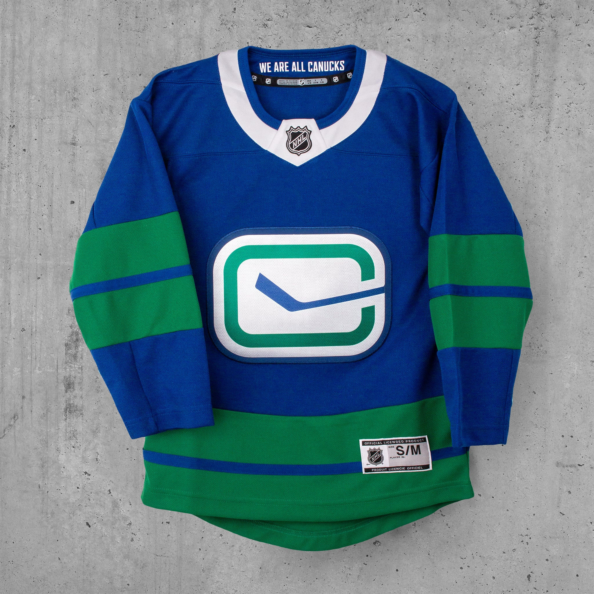 superior quality 87639 2d33e Vancouver Canucks Youth Custom 3rd Jersey