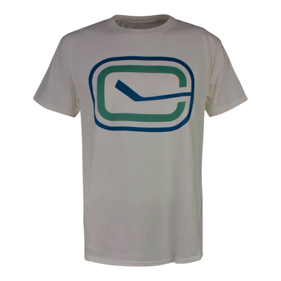 Canucks Champion Stick in Rink T-Shirt (White)