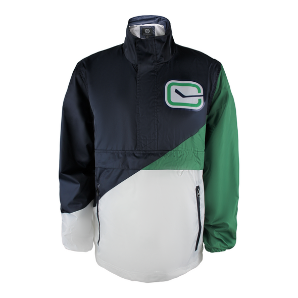 Vancouver Canucks Mens G111 Double Team 1/2 Zip