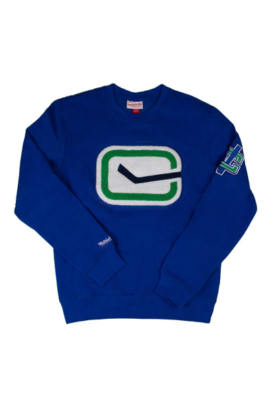 Vancouver Canucks Mens Mitchell & Ness Chenille Stick in Rink Crew