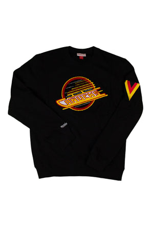Vancouver Canucks Mens Mitchell & Ness Chenille Skate Crew