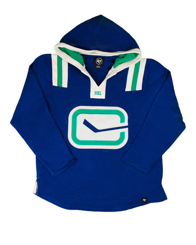 Vancouver Canucks Mens '47 Brand Hail Mary Stick Hoodie