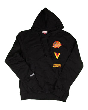 Vancouver Canucks Mens Mitchell & Ness Skate Logo Patch Hoodie