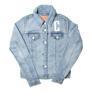 Vancouver Canucks Ladies Levi's Name & Number Jean Jacket