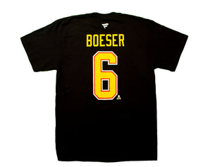 Vancouver Canucks Black Skate B. Boeser Name & Number T-Shirt