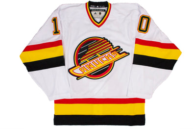 Vancouver Canucks Adidas Team Classic White Skate Pavel Bure Jersey