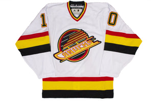 Vancouver Canucks Adidas Team Classic '94 Skate Jersey - WHITE (Blank)
