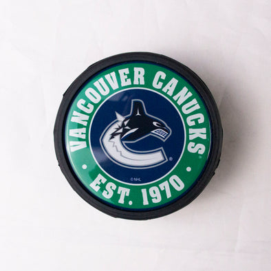 Vancouver Canucks Dome Orca Puck