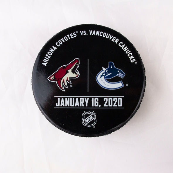 Vancouver Canucks VS. Arizona Coyotes Warm Up Puck- January 16th, 2020