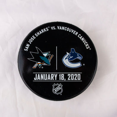 Vancouver Canucks VS. San Jose Sharks Warm Up Puck- January 18th, 2020