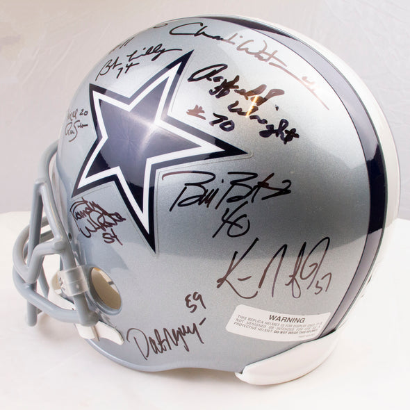 Dallas Cowboys 16 Player Team Signed  Helmet
