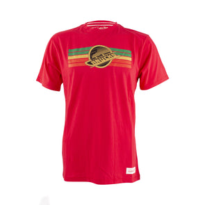 Vancouver Canucks Mitchell & Ness Red Euro Skate Tee - Vanbase